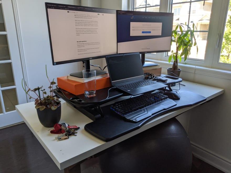 Exam desk ready to go! Not.