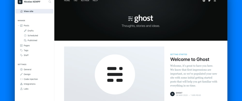 Cover image for Installer Ghost avec docker-compose