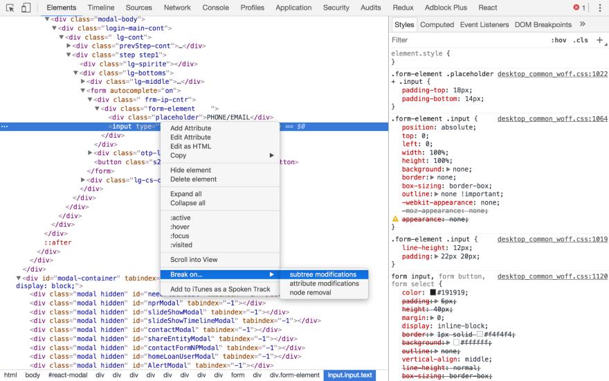 Chrome DevTools Elements Panel