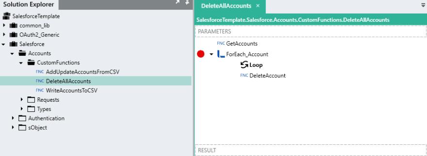 Delete all accounts screenshot.