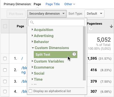 Google Custom Dimension Secondary Dimension