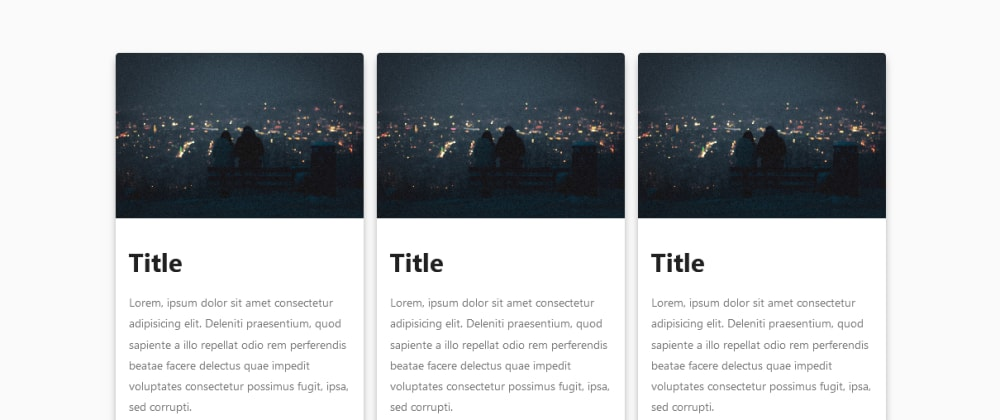 Cover image for # Create Card Components using css grids