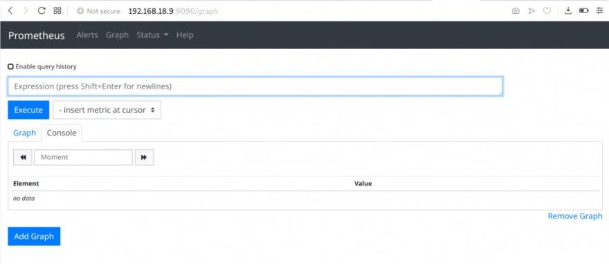 Installing & Configuring the Prometheus Server for MySQL - Access Prometheus UI