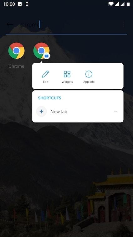 Show popup menu