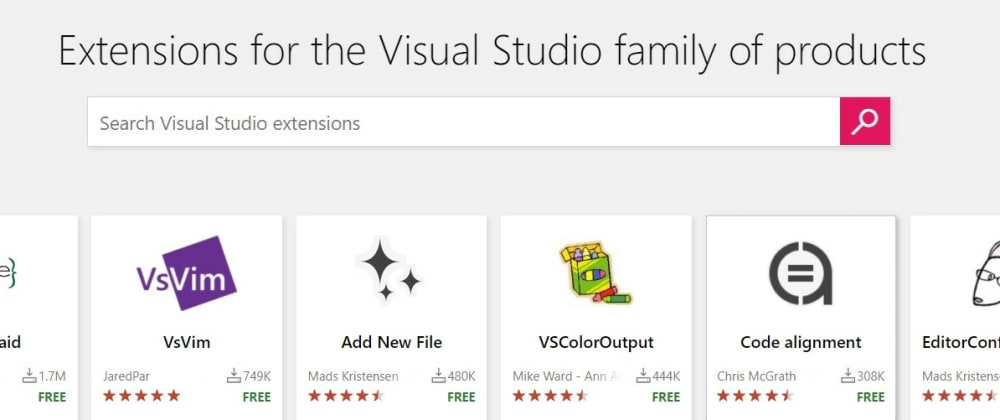 Cover image for 20 useful Visual Studio extensions