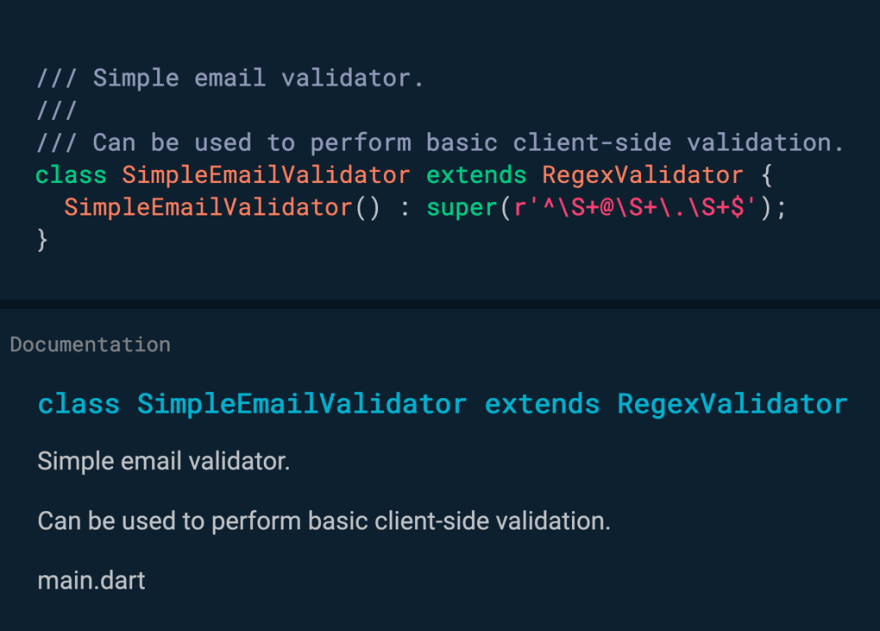 Use triple slashes to generate documentation comments.