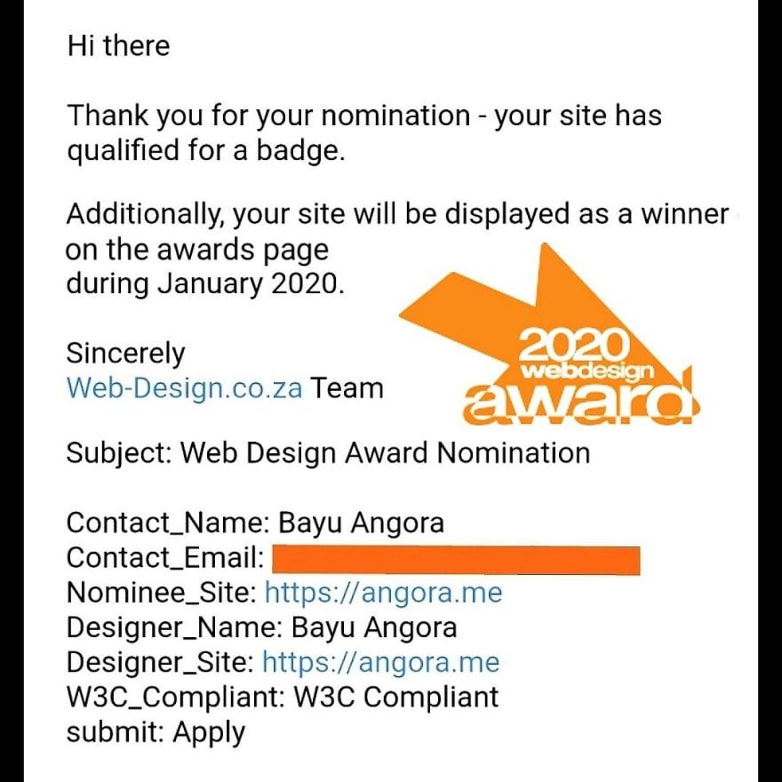 Bayu Angora Awards