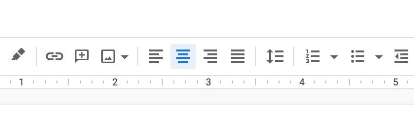 Google docs tool bar