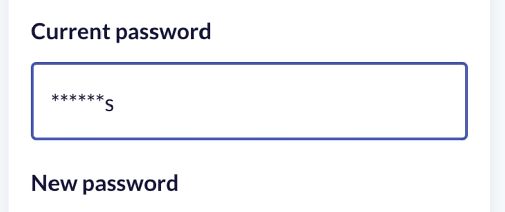 Cover image for Mimic mobile password input with React