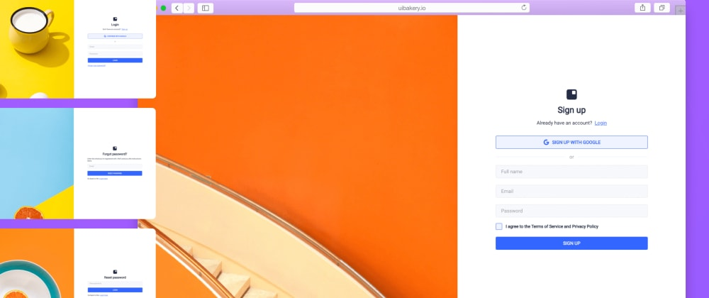 Cover image for Grab a new sign up form template in UI Bakery, for free