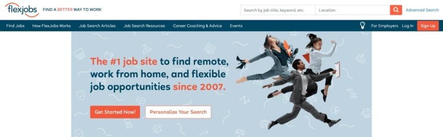 Flexjobs website