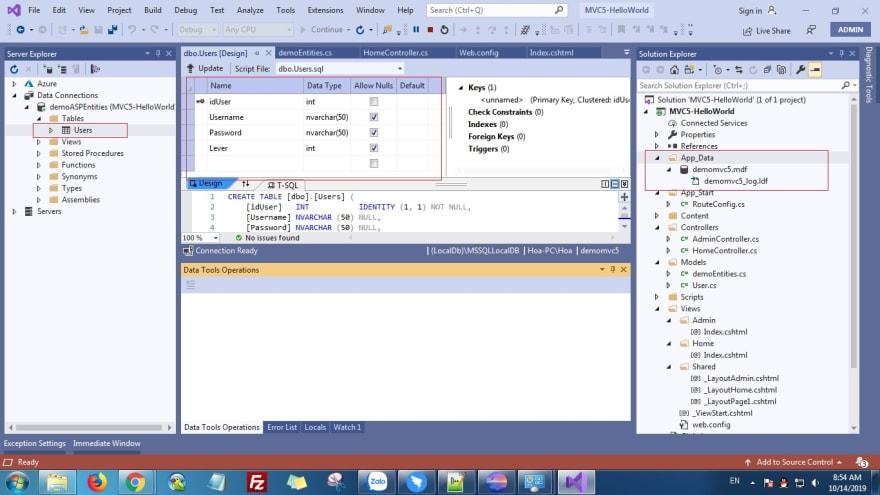 ASP.NET MVC 5 Using DBContext Connect Database - hoanguyenit.com