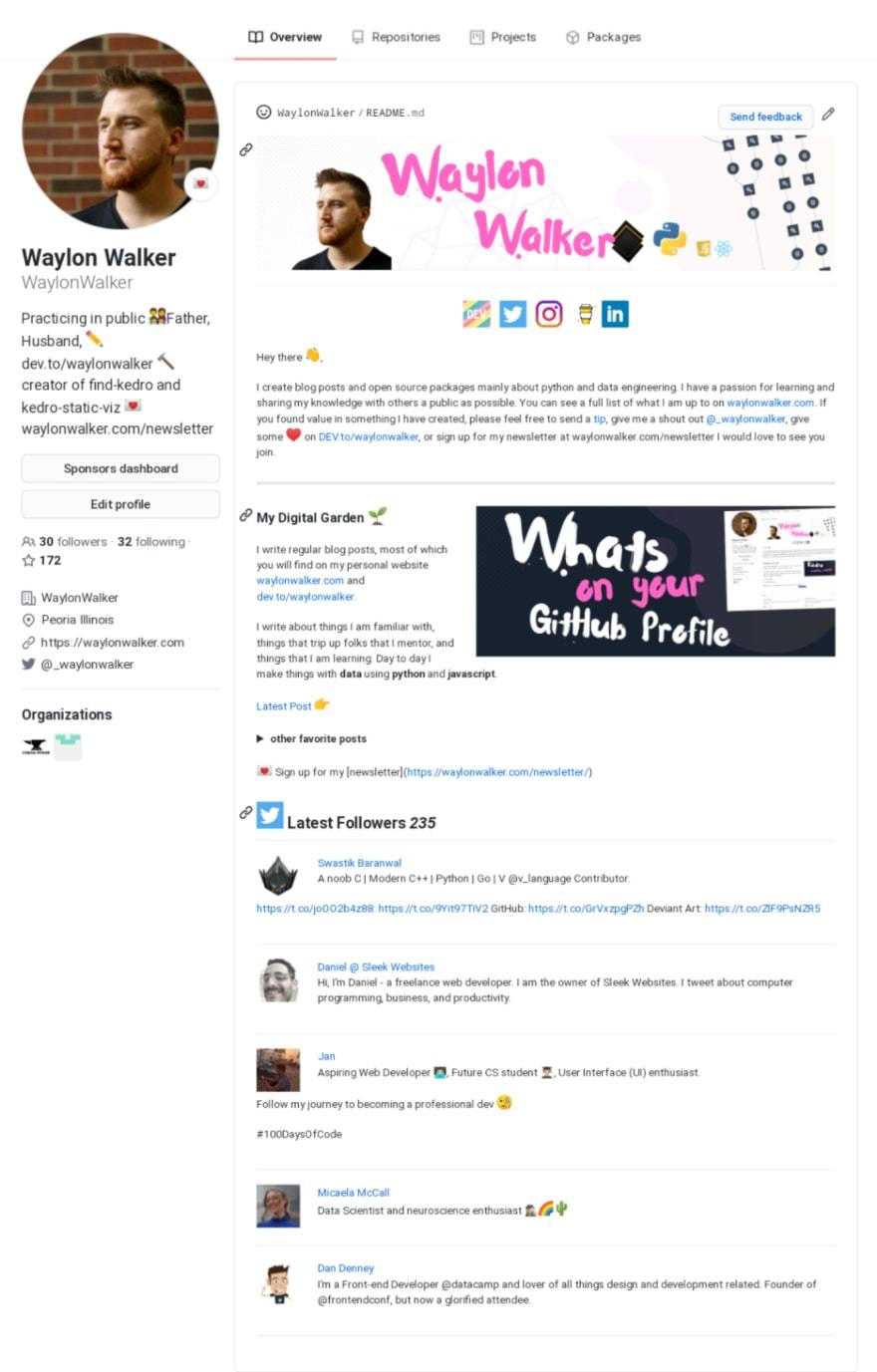waylonwalkers GitHub profile