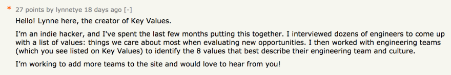 HN first comment