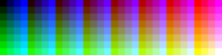 An 8-bit color palette