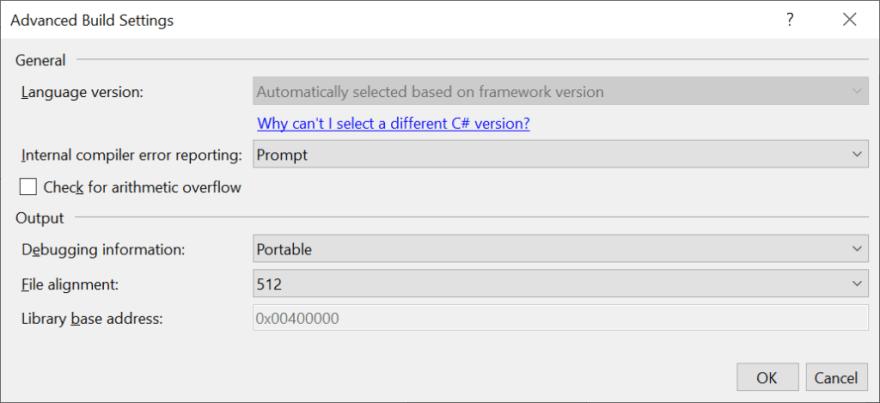 C# Language Version Selection