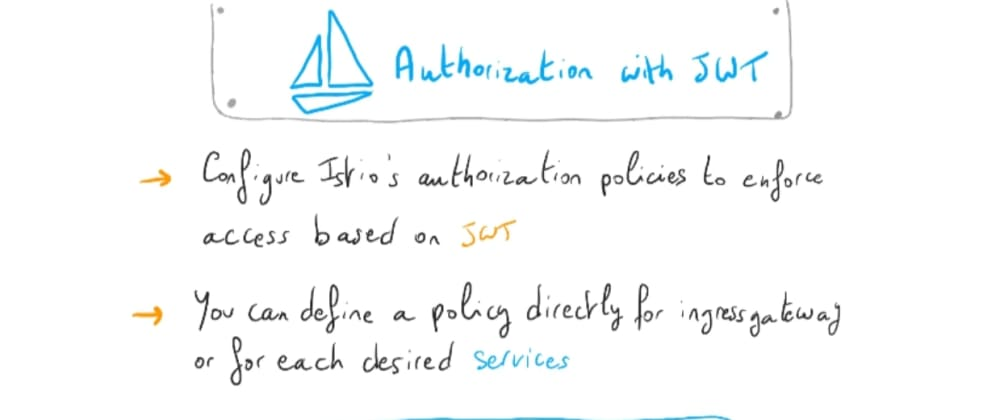 Cover image for Understanding Istio: part 14 – Authorization with JWT