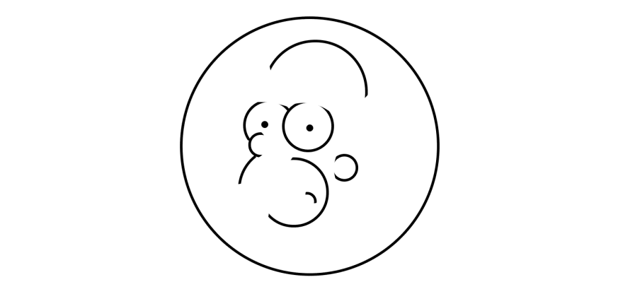 Circles to create Homer Simpson's shape