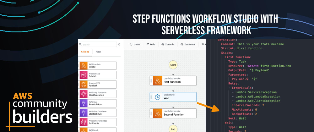 Cover image for Step Functions Workflow Studio with Serverless Framework