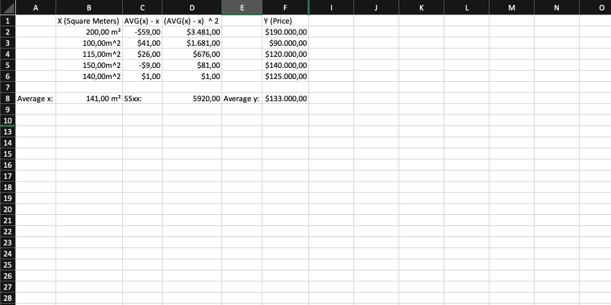 An Excel document