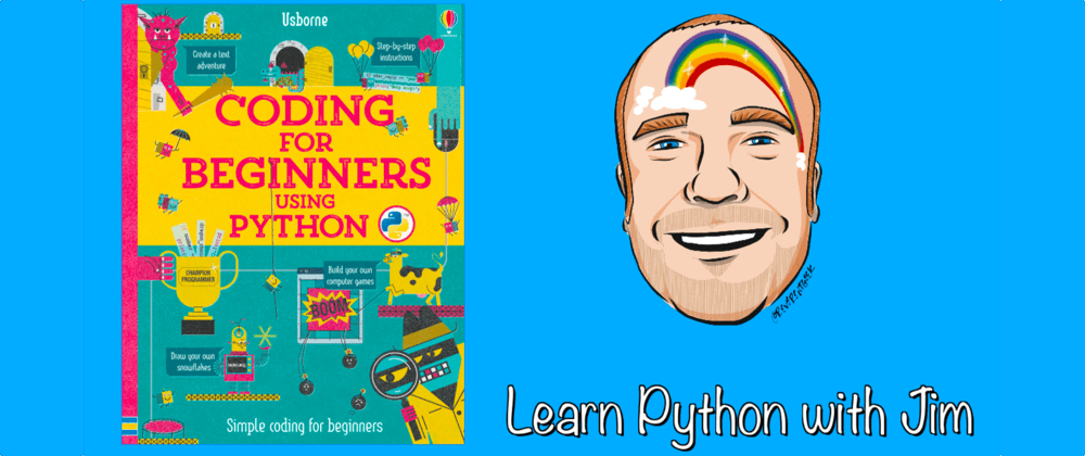 Cover image for Learning Python on Twitch with a kids book!