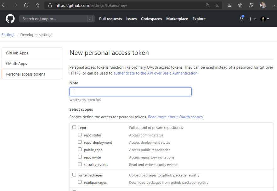 Can't push to GitHub