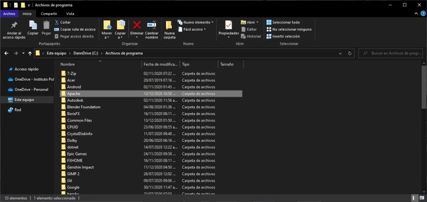 "new ""Apache"" folder"