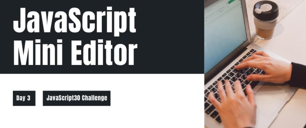 Cover image for Amazing Mini Image Editor with Vanilla JavaScript
