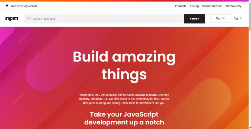 web development tools - npm