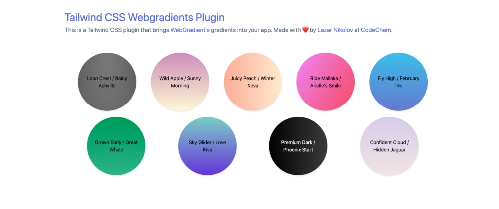 Cover image for Tailwind CSS Plugin that brings Webgradients into your app