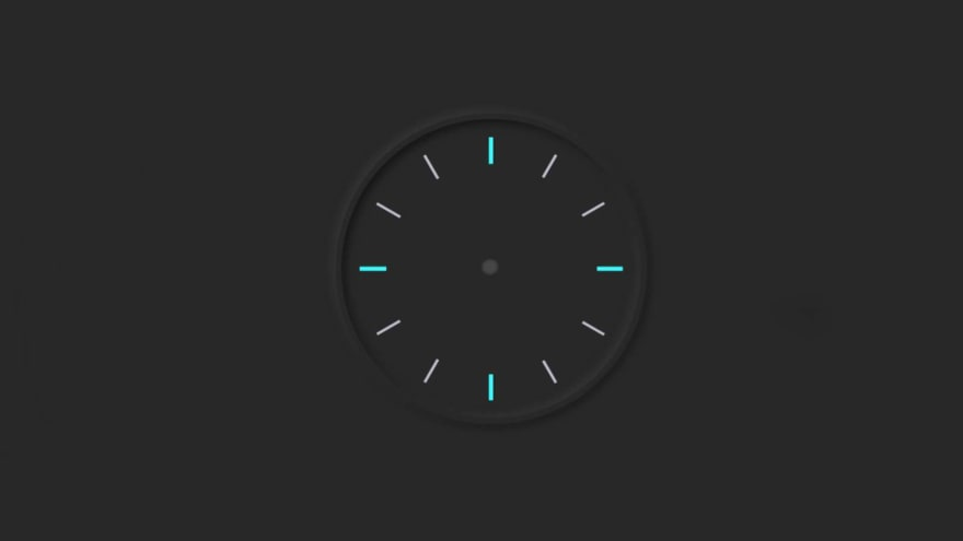 Draw a circle in the middle of the analog clock