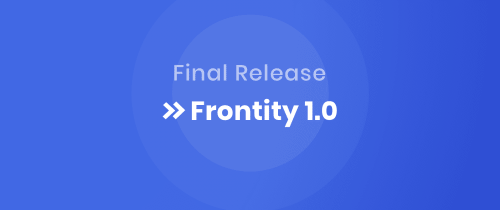 Cover image for Announcing Frontity 1.0!