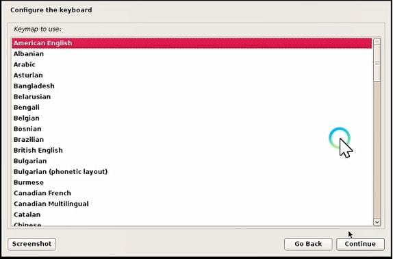 Select your keyword