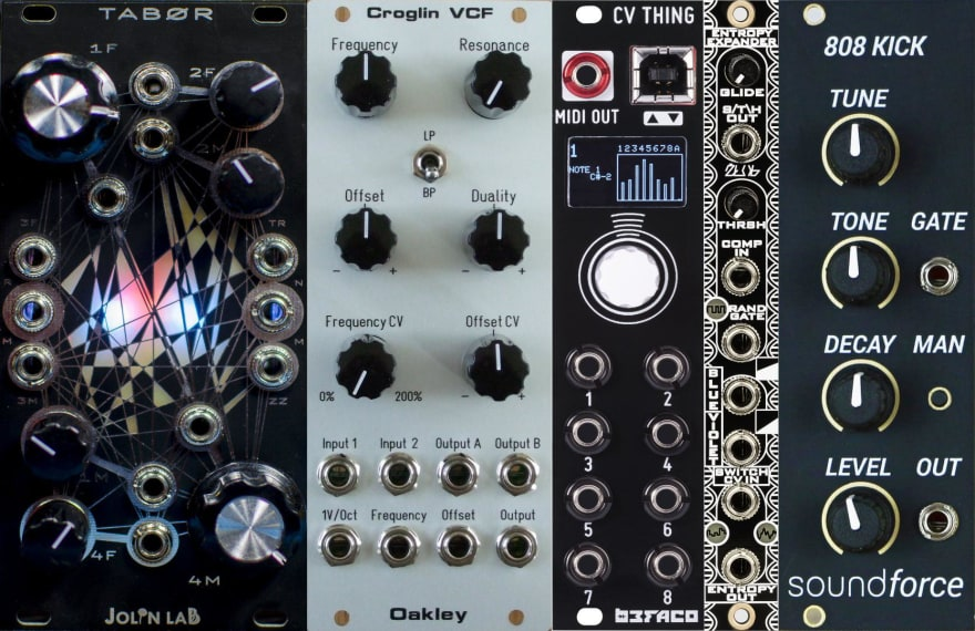 Example training image of synth modules