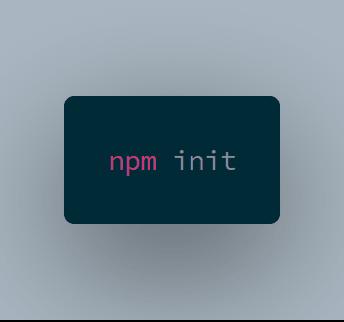npm init