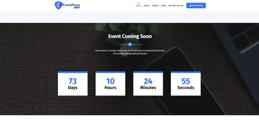 This is a business theme with a built-in countdown timer