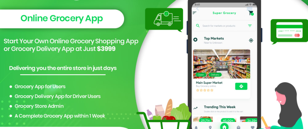 Cover image for Online Grocery Shopping App -  The Best Way To Start Your Online Grocery Store Business