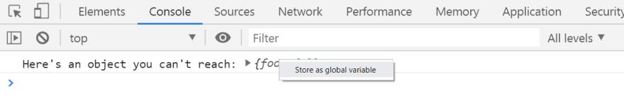 Store as global variable