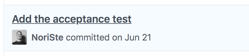 An outside-in acceptance E2E test