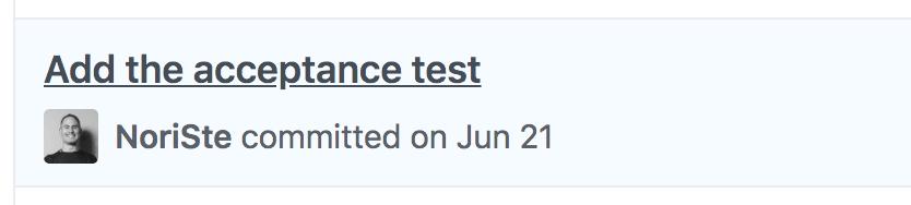 An outside-in acceptance E2E test