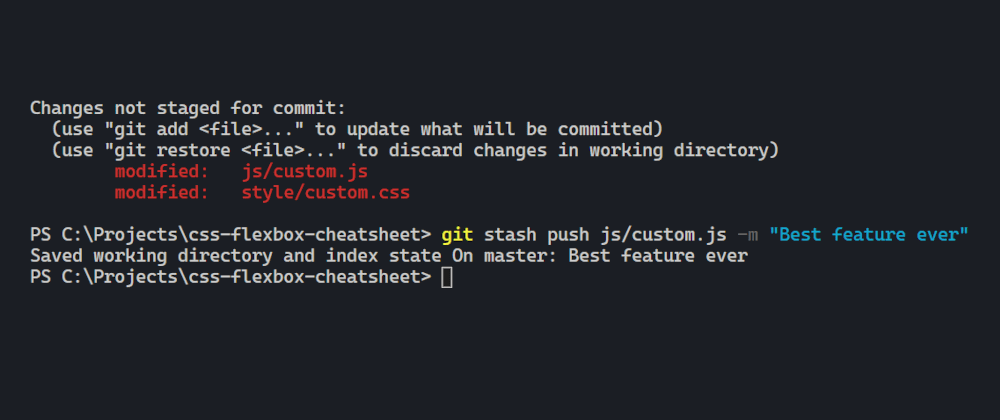Cover image for Tip: Stashing selected files in git
