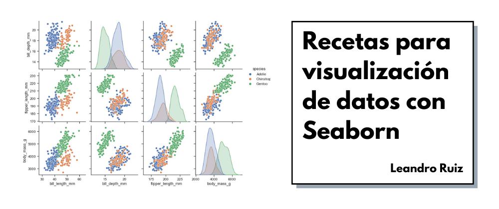 Cover image for Recetas para visualización de datos con Seaborn