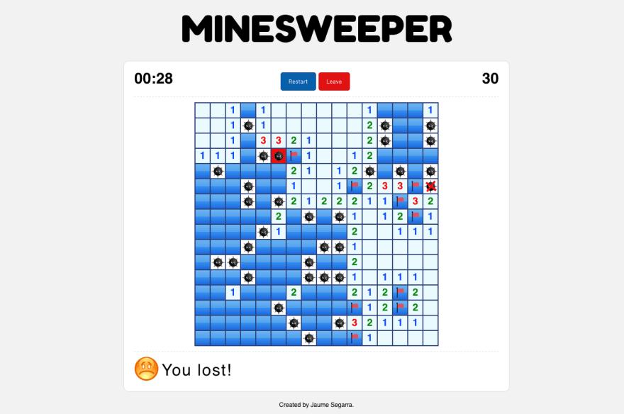React-Redux Minesweeper game - DEV Community 👩 💻👨 💻