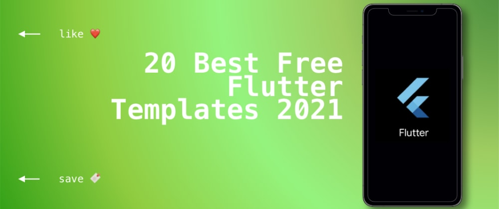 Cover image for Free Flutter Templates 2021