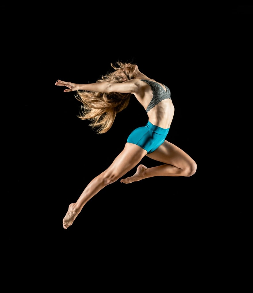 a dancer jumping in the air
