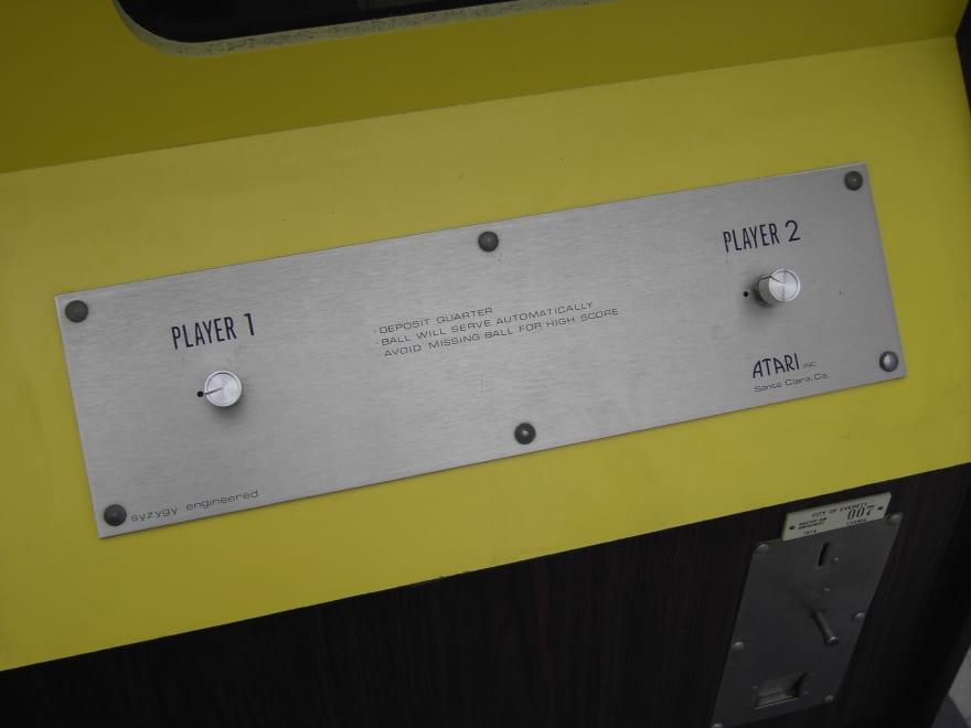 Pong Arcade Cabinet UI