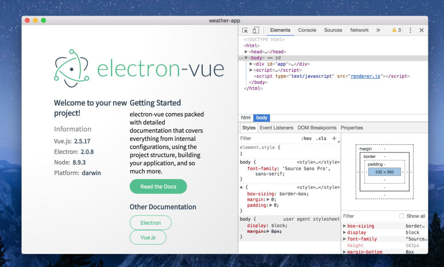 Building a Desktop App with Vue: Electron - DEV Community