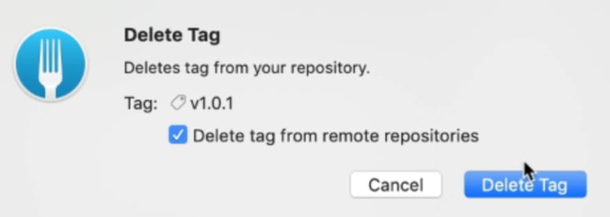 Choice to delete tag from remote