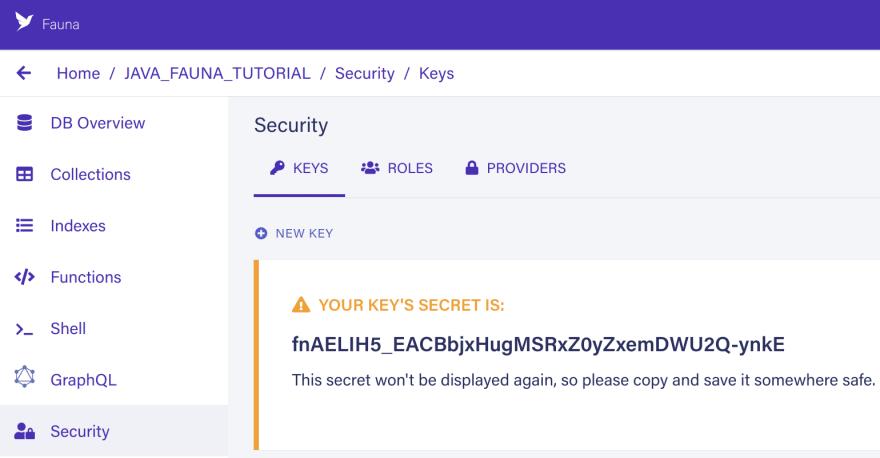Display server key