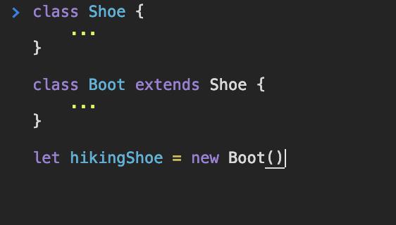 Shoe Class Example